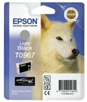 Картридж оригинальный (в технологической упаковке) светло-черный / серый (light black) Epson T0967, объем 11,4 мл.