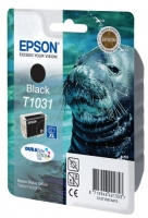 Картридж оригинальный (в технологической упаковке) увеличенной емкости черный (black) Epson T1031/ C13T10314A10, объем 25,9 мл.