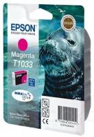 Картридж оригинальный (в технологической упаковке) увеличенной емкости пурпурный Epson T1033 / C13T10334A10, объем 11,1 мл.