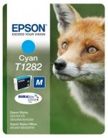Картридж оригинальный (в технологической упаковке) голубой (cyan) Epson T1282 / C13T12824010, объем 3,5 мл.