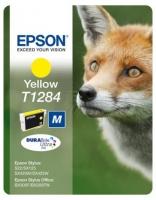 Картридж оригинальный (в технологической упаковке) желтый (yellow) Epson T1284 / C13T12844010, объем 3,5 мл.