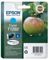 Картридж оригинальный (в технологической упаковке) голубой (cyan) Epson T1292 / C13T12924010, объем 7 мл.