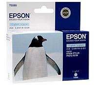 Картридж оригинальный (в технологической упаковке) светло-голубой (light cyan) Epson T5595 (C13T55954010), ресурс 400 стр.