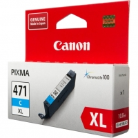Картридж оригинальный голубой Canon CLI-471XL C, ресурс 640 стр.