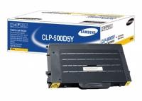 Картридж оригинальный желтый (yellow) Samsung CLP-500D5Y, ресурс 5000 стр.