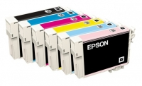 Комплект картриджей оригинальный (в технологической упаковке) Epson T0801 - 806 (Bk, C, M, Y, LC, LM)
